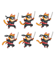 Cat Ninja Jumping Sprite vector image