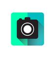 Camera flat icon design long shadow vector image