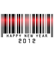 barcode new year 2012 vector image vector image