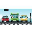Car traffic light vector image vector image