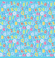 alphabet pattern seamless vector image