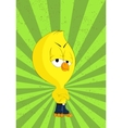 cartoon chick vector image