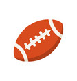 cartoon colorful american football ball vector image