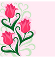 Greeting card with tulips flowers vector image