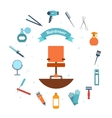 Hairdresser icon flat vector image