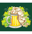 Happy St Patricks day card with beer vector image