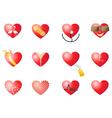 loving hearts set vector image