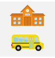 School building with clock and windows City vector image