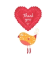 Thank you card with birds vector image