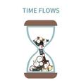 Time Flows Concept vector image