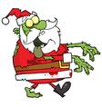 Santa Zombie Cartoon Character vector image vector image
