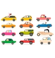 Collection of Different Types of Automobile Cabine vector image