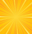 Yellow Halftone Star vector image vector image