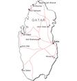 Qatar Black White Map vector image vector image