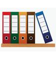 Office folders vector image