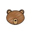 bear head wild cute animal vector image