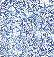 Blue floral decorative pattern vector image
