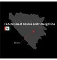 Detailed map of Federation of Bosnia and vector image