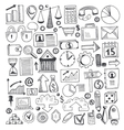 Hand drawn sketch elements set vector image
