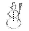 icon with a snowman vector image