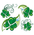 Lucky clovers background for Happy St Patricks Day vector image