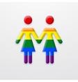 modern lesbian two women on white vector image