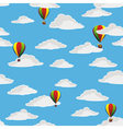 retro balloons flying vector image