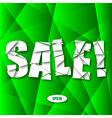 Sale Cut Paper Poster on green background vector image