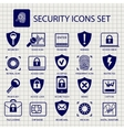 Security icons on notebook page vector image