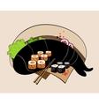 sushi rolls vector image