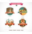 World Places - Paris Toronto Barcelona Sahara vector image
