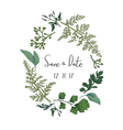 Wreath with herbs and leaves isolated vector image