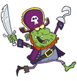 Cartoon Pirate Zombie With A Cutlas vector image vector image