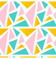 Cute colorful triangle seamless pattern background vector image