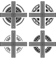 set of fantasy crosses vector image
