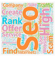 How To Find A True And Reliable SEO Company text vector image