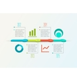 Abstract Timeline Infographic design template vector image vector image