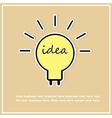 idea bulbs abstract background vector image