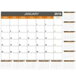 Planning calendar 2016 vector image