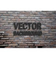 Background of old vintage brick wall vector image