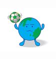 creative soccer vector image