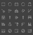 fish and aquarium icons vector image