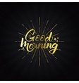 Good morning Quote typographic calligraphic vector image