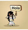 Hello from Mexico people vector image