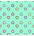 Rounded triangle seamless pattern vector image