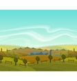 spring seamless landscape background vector image