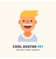 Young blonde guy friendly smiling icon vector image
