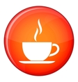 Cup of hot drink icon flat style vector image