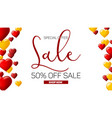 sale banner on white background with inflatable vector image vector image