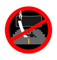 no smoking in cinema red sign prohibiting smoking vector image
